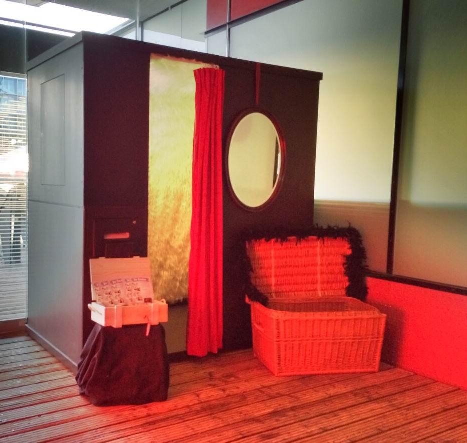 Die Fotobox aus Berlin beim ersten Einsatz in Hamburg